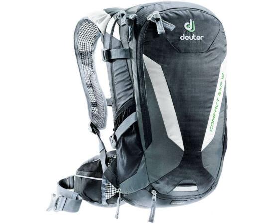 Deuter Compact EXP 12 kerékpáros hátizsák, 12L, fekete-szürke