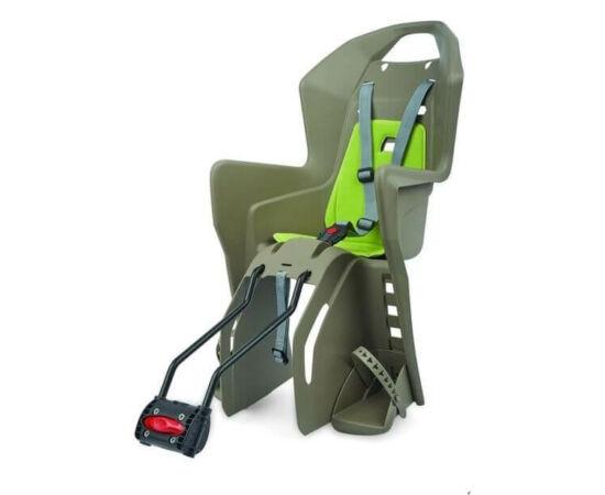 Polisport Koolah FF adapteres gyerekülés (vázra), 29-es kerékpárra, barna-zöld