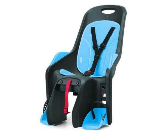 Polisport Bubbly Maxi csomagtartóra szerelhető gyerekülés, szürke-kék