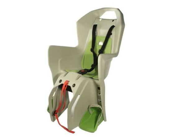 Polisport Koolah csomagtartóra szerelhető gyerekülés, barna-zöld