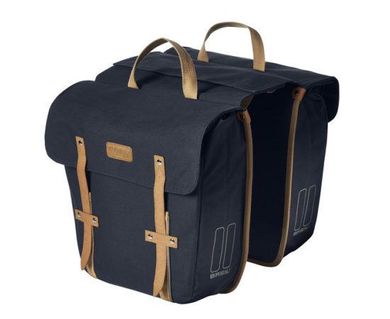 Basil Portland két részes táska csomagtartóra, 2x15L, sötétkék