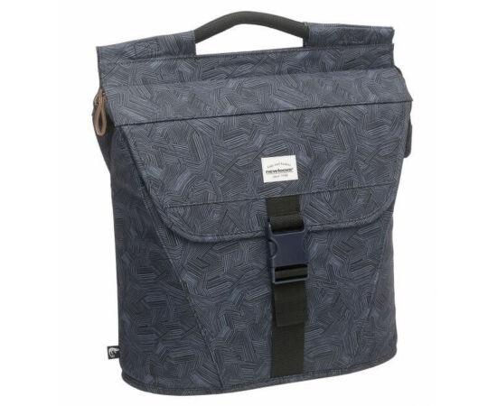 NewLooxs Shopper Eclypse Livio Black egy részes táska csomagtartóra, 16L, nonfiguratív, fekete