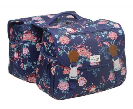 NewLooxs Joli Double Detachable Ella Blue két részes táska csomagtartóra, 34L, virágos, kék