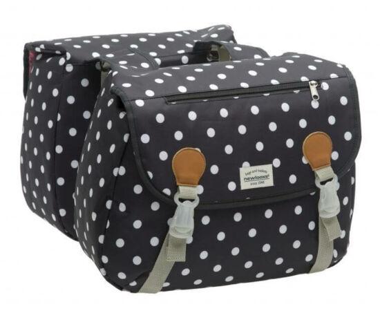 NewLooxs Joli Double Polka Black két részes táska csomagtartóra, 34L, pöttyös, fekete