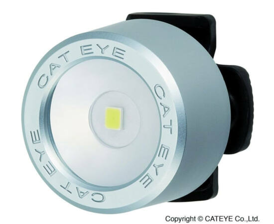 Cateye Nima TL-LD130F gumipántos első villogó lámpa, 1 LED, matt ezüst