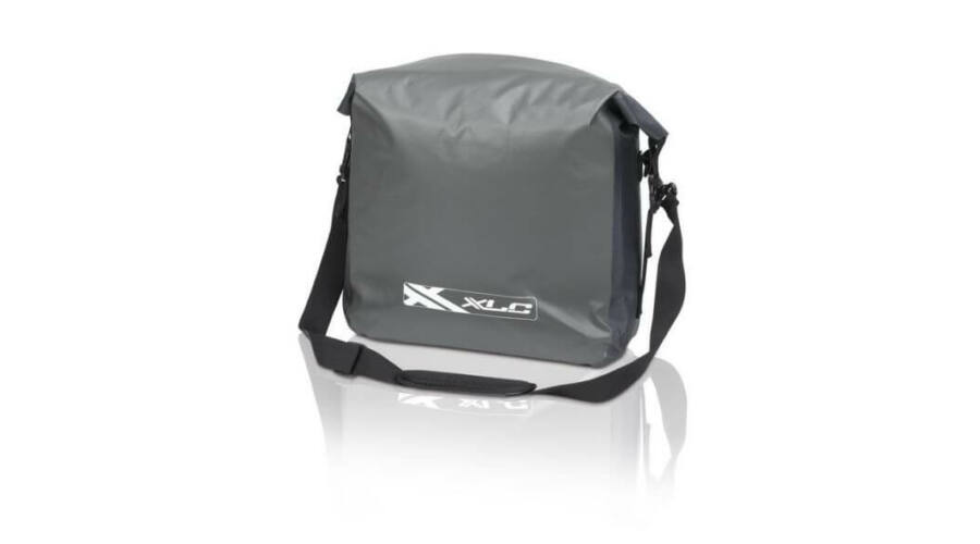 XLC BA-W25 Messenger vízálló futártáska oldaltáska 12L szürke-fekete fe7b58831e