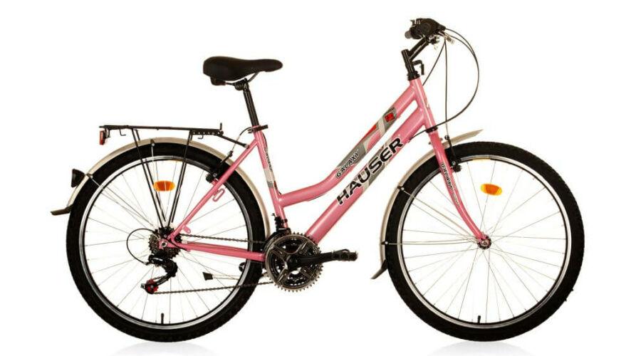1a708a392d0e Hauser Galaxy City NŐI kerékpár rózsaszín