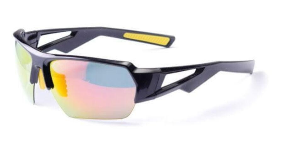Bikefun Gladiator cserélhető lencsés sportszemüveg feketesárga 3lencse 4e5b56b098