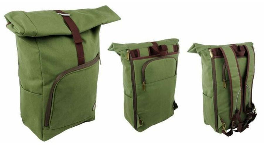 d7178e5c2859 Longus Officer egy részes túratáska-hátizsák csomagtartóra, 14-20L, zöld