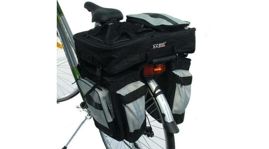 5e82035b6e76 Roswheel három részes túratáska hátsó csomagtartóra, 50L, fekete-ezüst