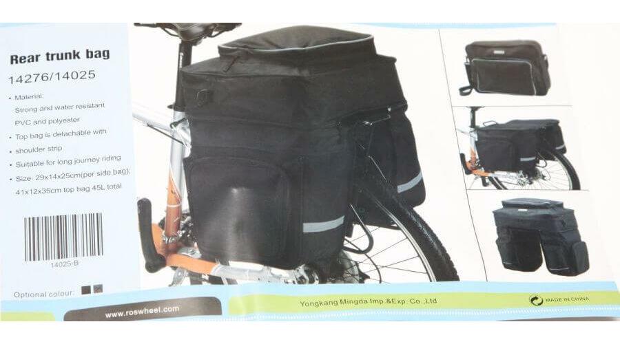e3f070511cf3 Roswheel három részes túratáska hátsó csomagtartóra, 45L, fekete