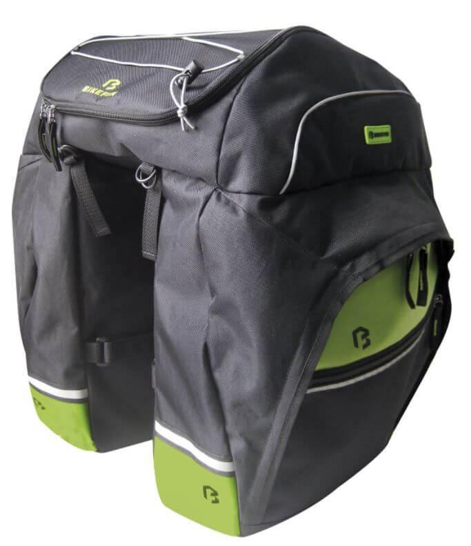 c42f1363ec08 Bikefun Master 3 részes táska csomagtartóra esőhuzattal 69L feketezöld
